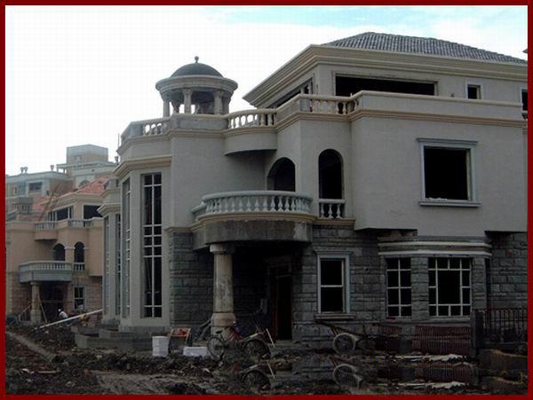 欧式喷砂房子图片
